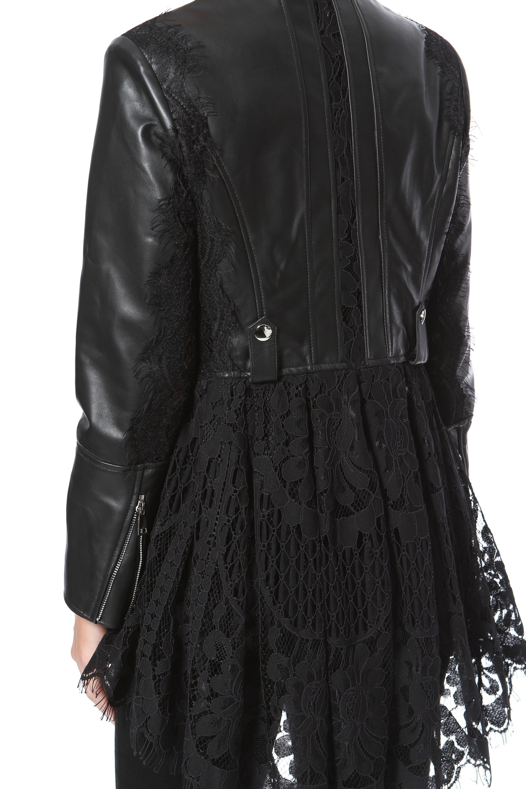 Madonna & Co Lace & Leather Moto - Side Cropped Image