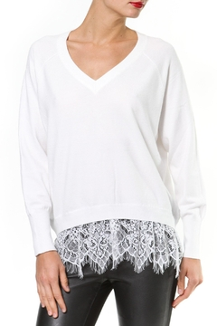 Madonna & Co Lace Trim Sweater - Product List Image