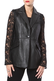 Madonna & Co Leather & Lace Blazer - Product Mini Image