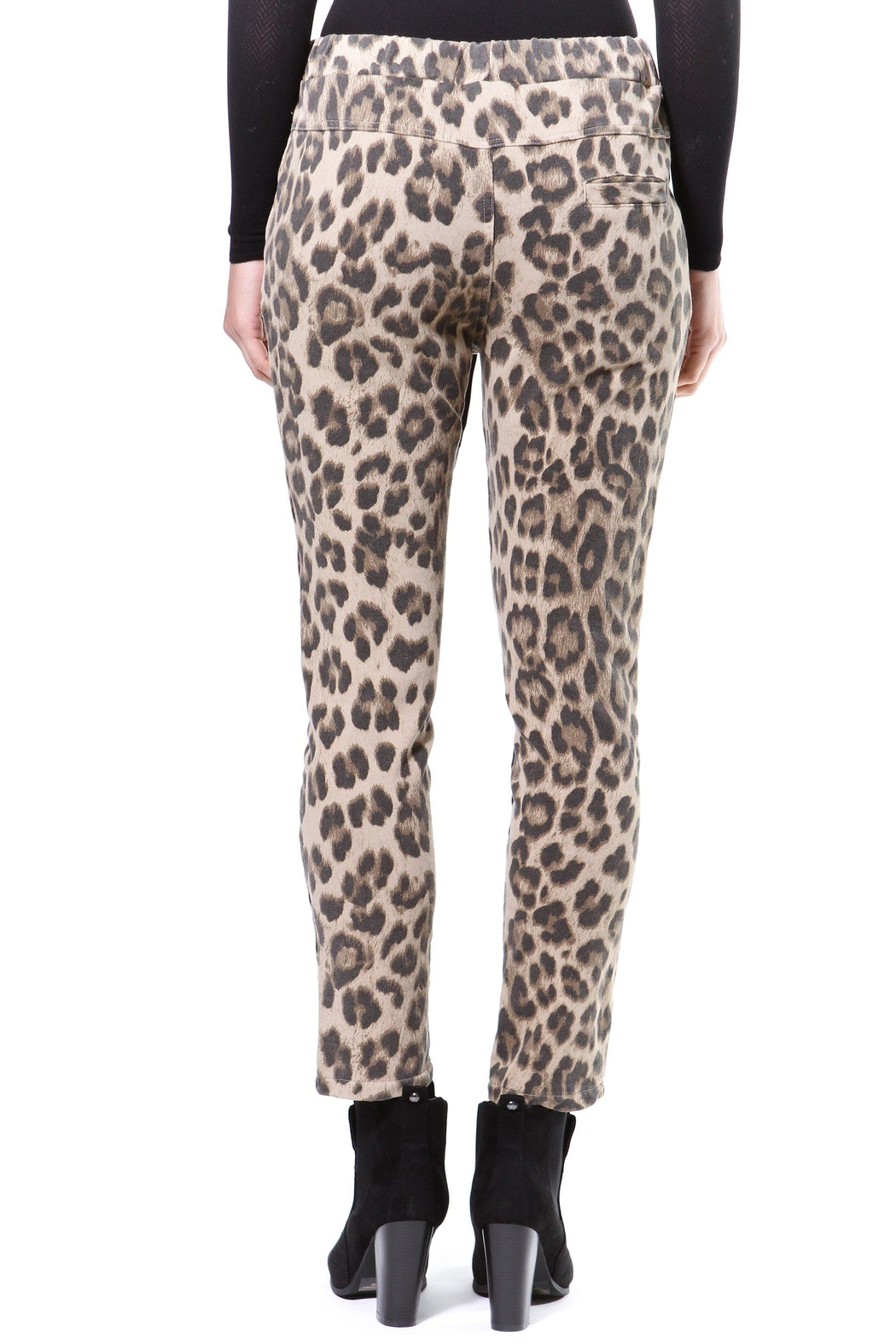 Madonna & Co Leopard Print Trackpant - Side Cropped Image