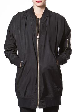 Shoptiques Product: Long Satin Bomber