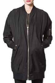 Madonna & Co Long Satin Bomber - Product Mini Image