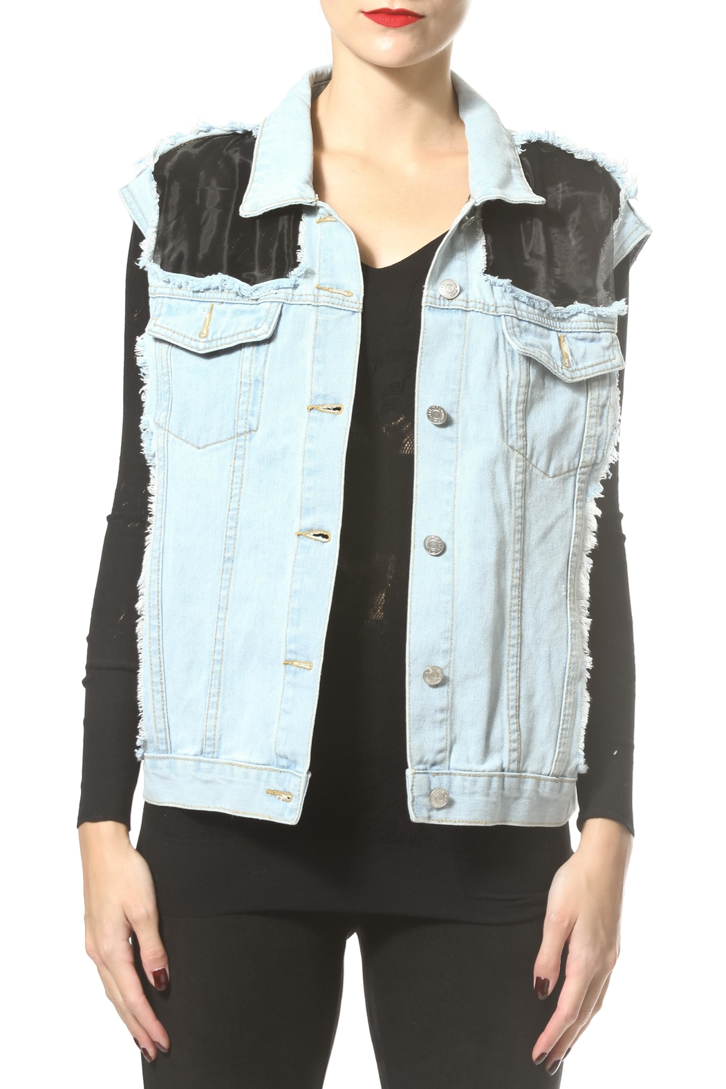 Madonna & Co Luxe Denim Vest - Main Image