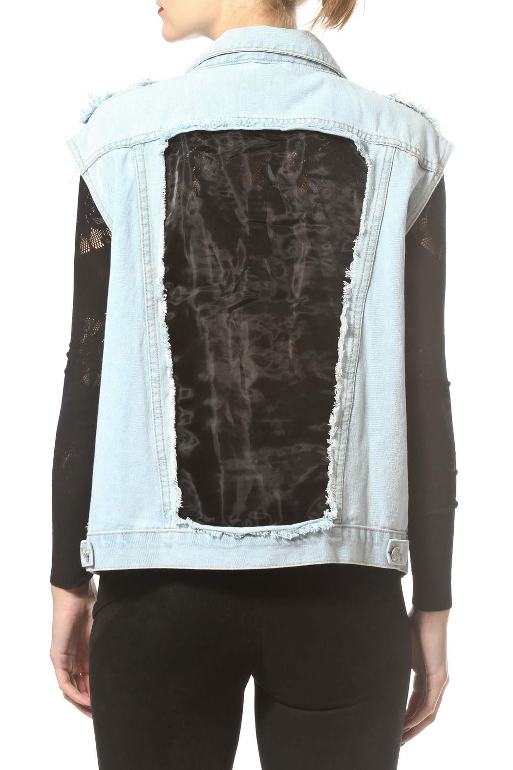 Madonna & Co Luxe Denim Vest - Side Cropped Image