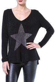 Madonna & Co Metallic Star Front Sweater - Product Mini Image