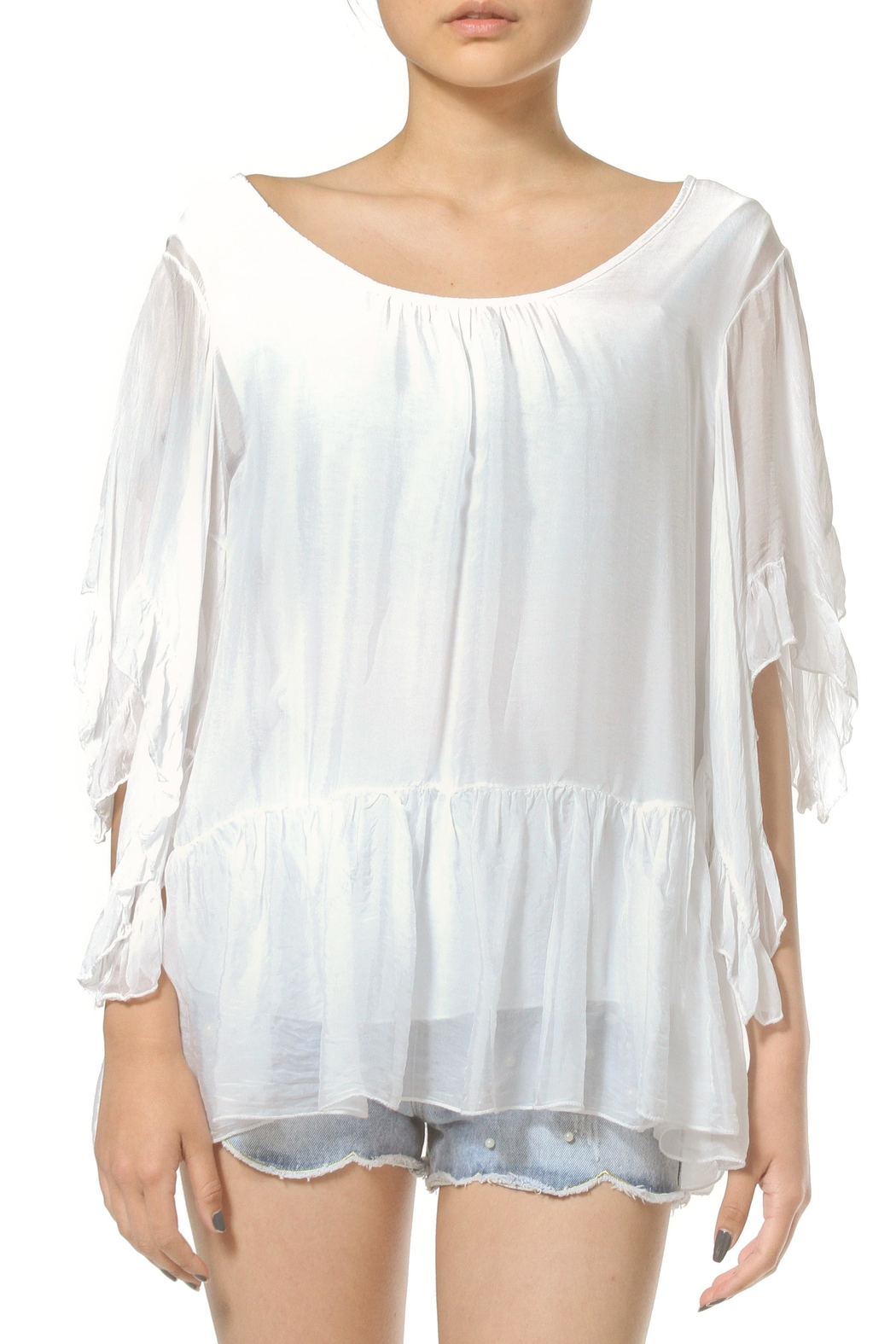 Madonna & Co Silk Tunic Top - Front Cropped Image