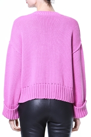 Madonna & Co Pink Ribbed Trim Sweater - Front full body