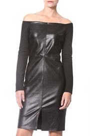 Madonna & Co Leather Knit Dress - Product Mini Image