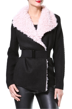 Madonna & Co Plush Collar Cardigan - Product List Image