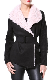 Madonna & Co Plush Collar Cardigan - Product Mini Image