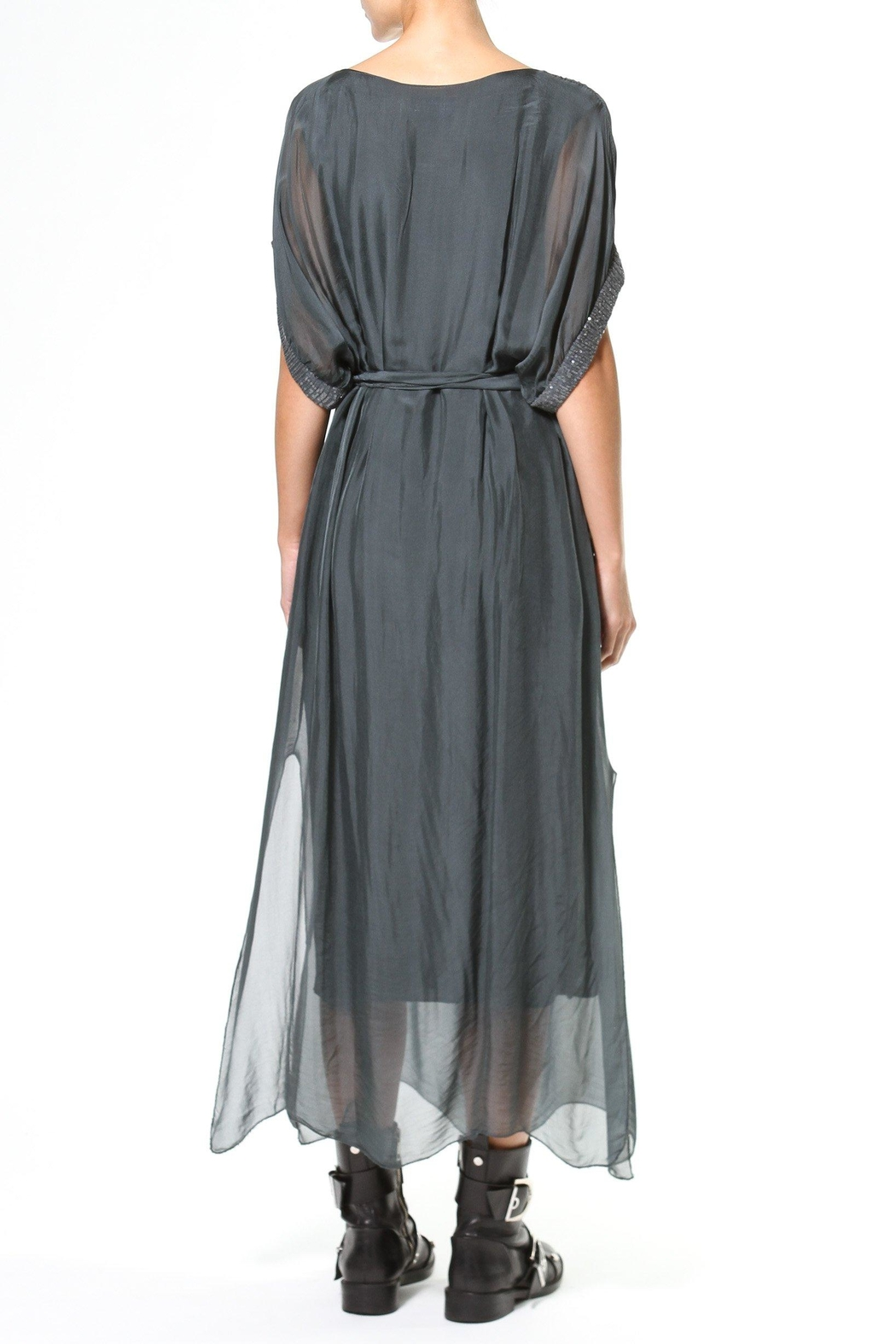 Madonna & Co Silk Maxi With Metallic Trim - Side Cropped Image