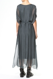 Madonna & Co Silk Maxi With Metallic Trim - Side cropped