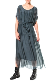 Madonna & Co Silk Maxi With Metallic Trim - Front cropped