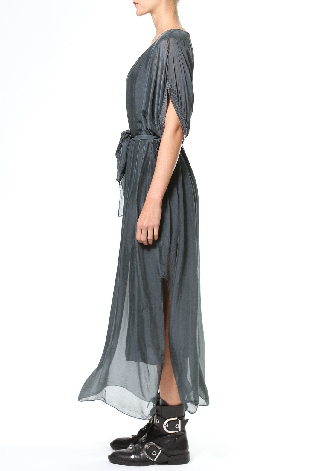 Madonna & Co Silk Maxi With Metallic Trim - Front Full Image