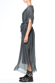 Madonna & Co Silk Maxi With Metallic Trim - Front full body