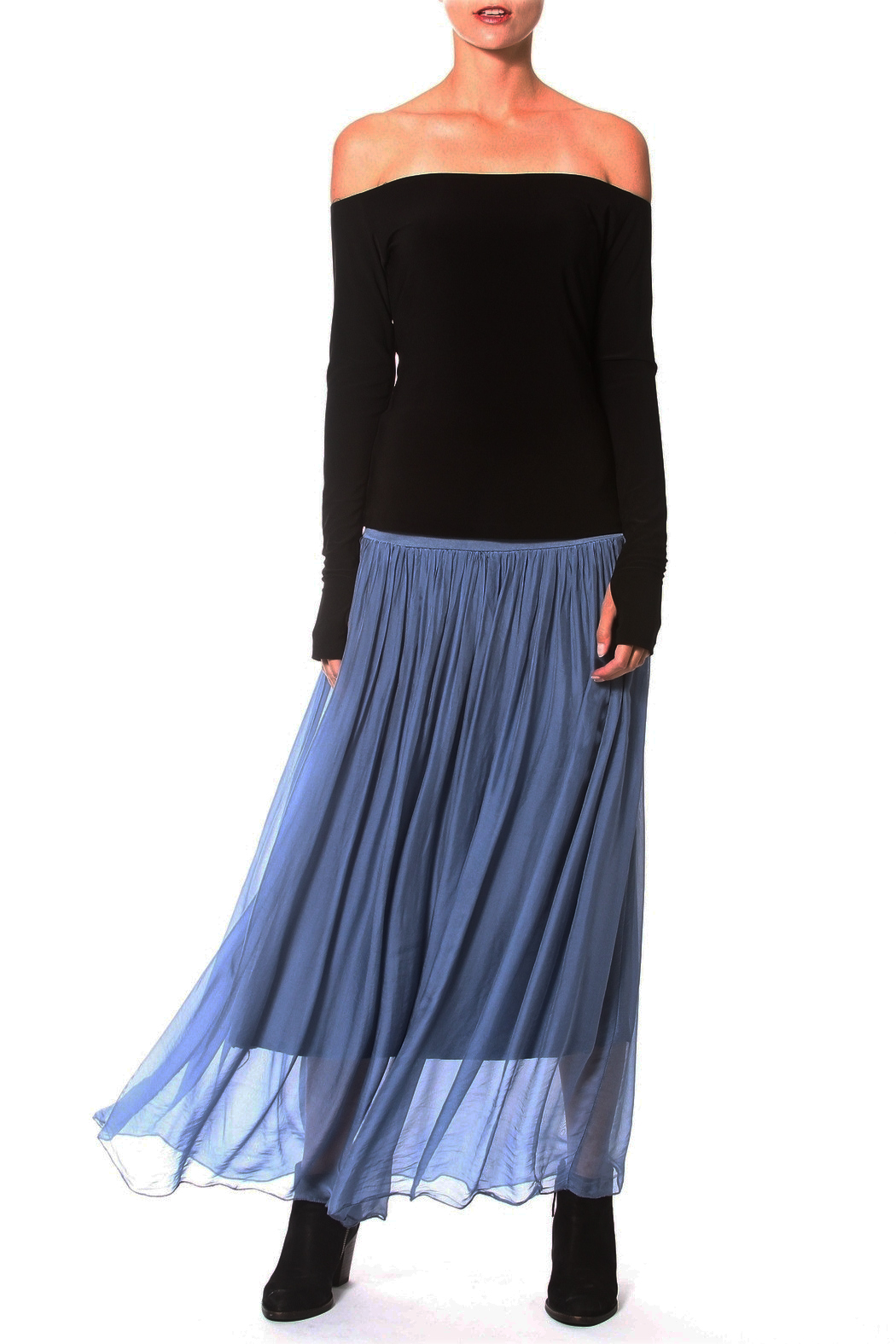 Madonna & Co Silk Skirt - Front Cropped Image
