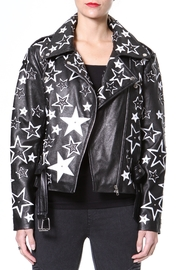 Madonna & Co Star Leather Biker - Product Mini Image