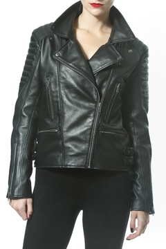 Madonna & Co Statement Leather Jacket - Product List Image