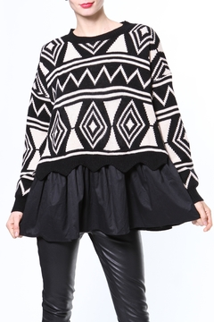 Madonna & Co Sweater/woven Tunic - Product List Image