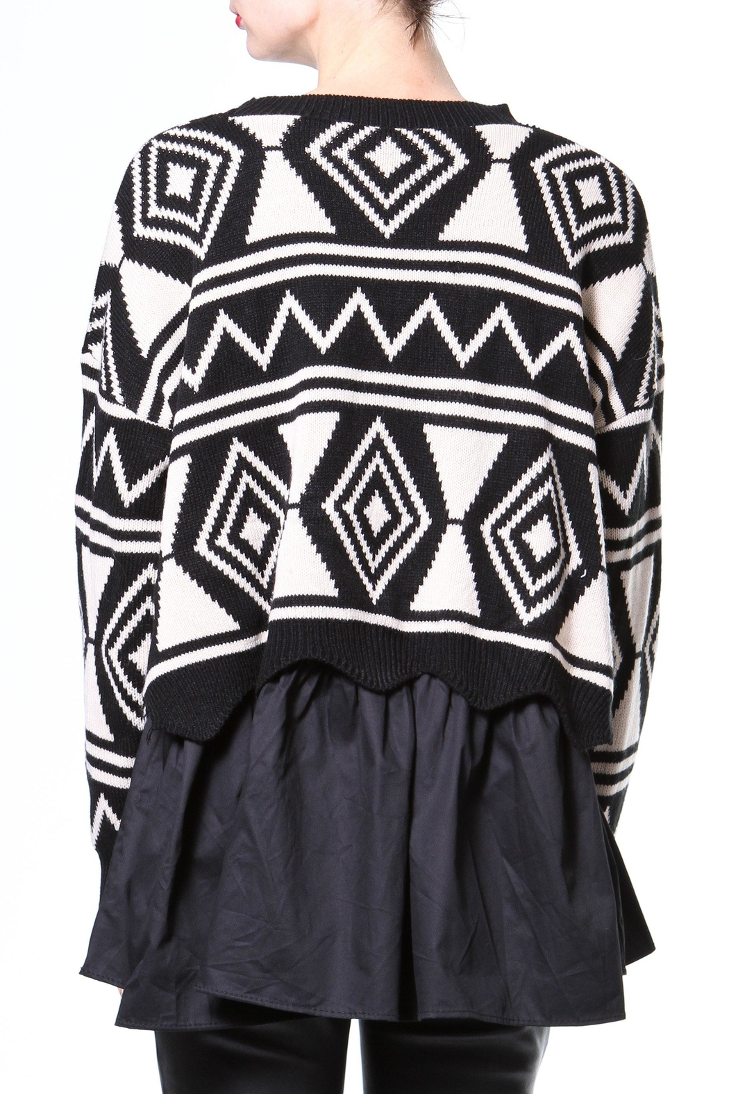 Madonna & Co Sweater/woven Tunic - Front Full Image