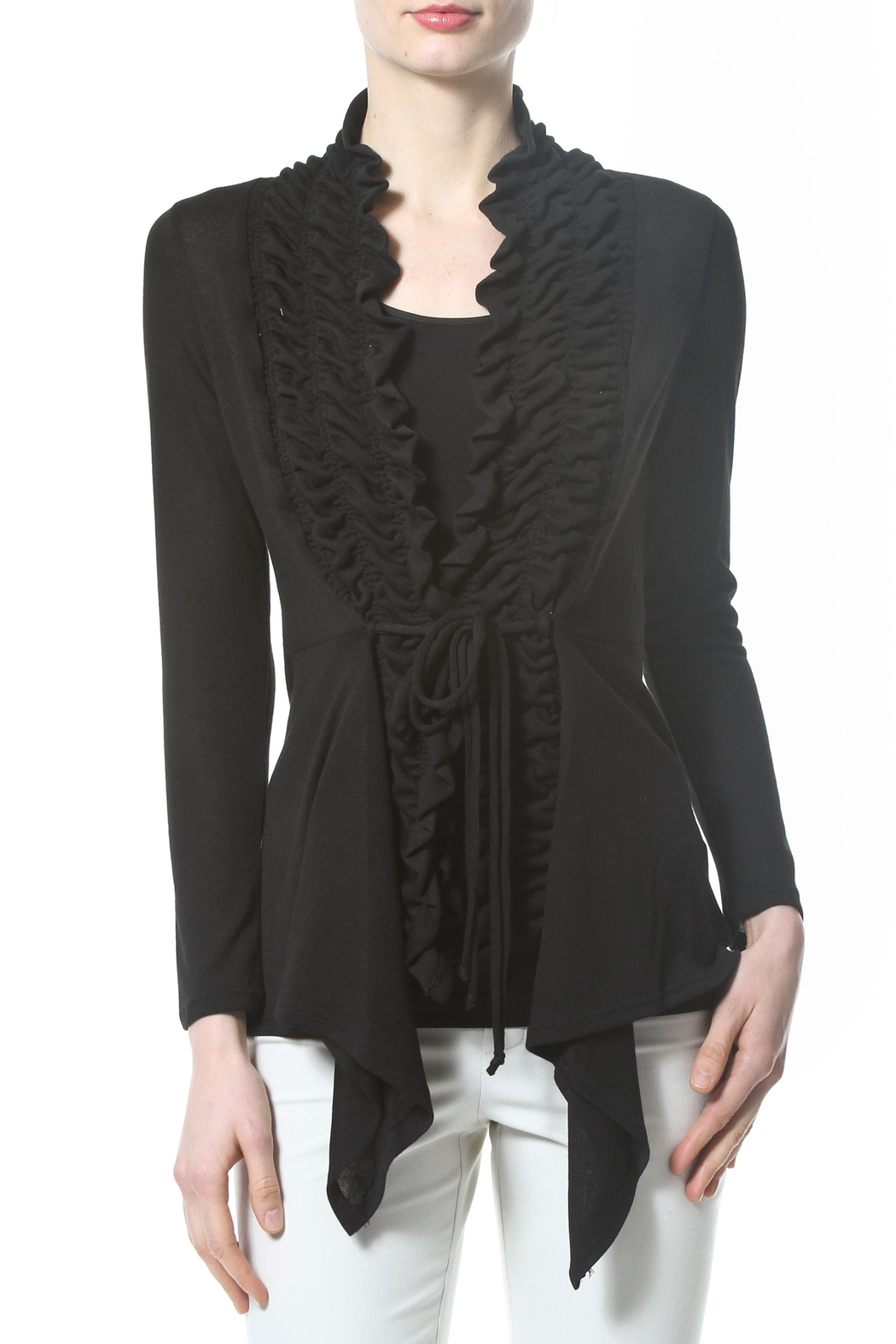Madonna & Co Textured Trim Cardigan - Main Image