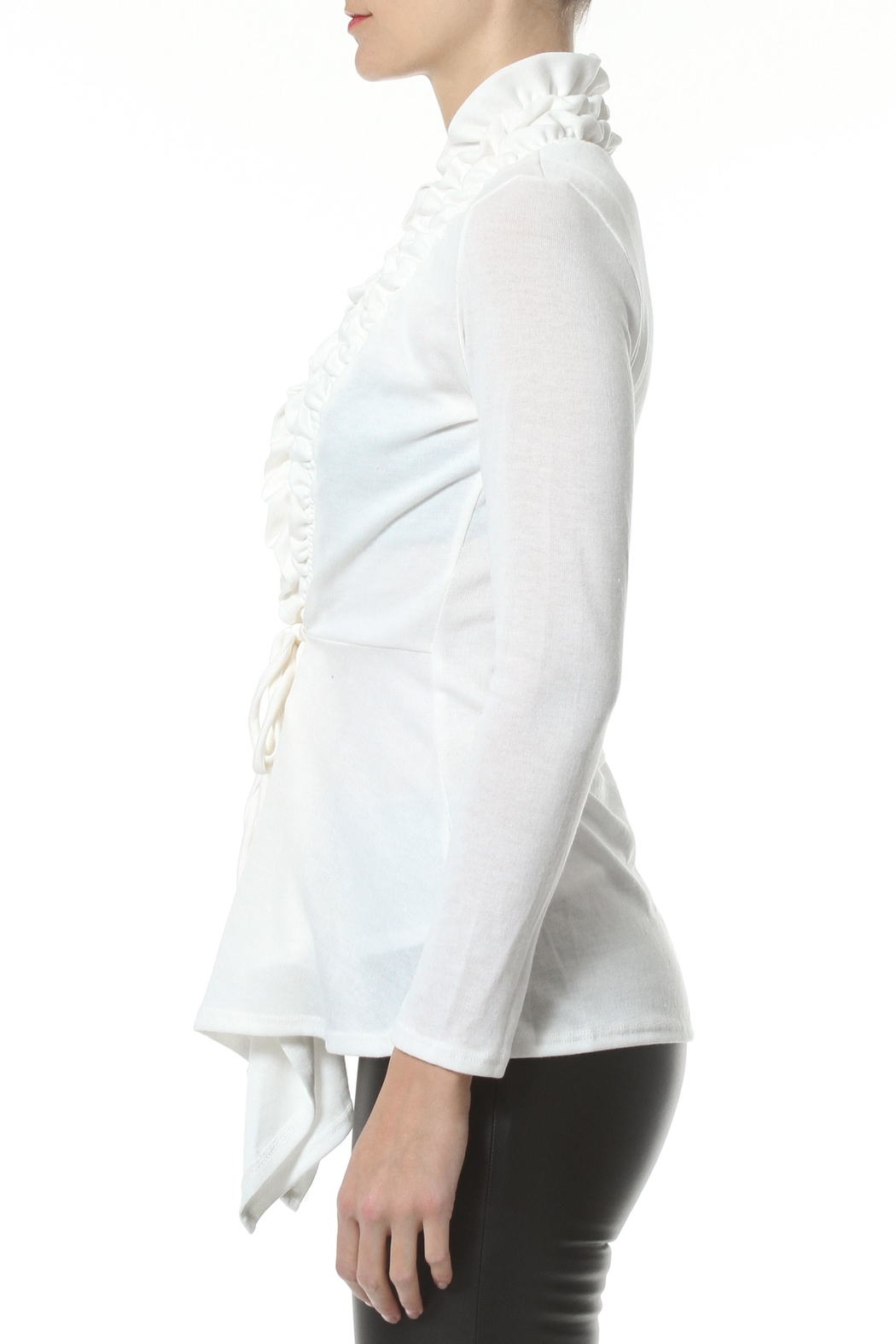 Madonna & Co Textured Trim Cardigan - Front Full Image