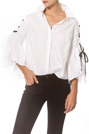 Madonna & Co Tie Sleeve Shirt - Product Mini Image