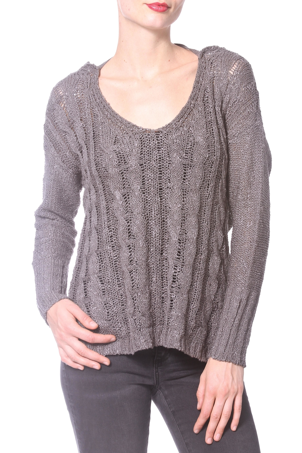 Madonna & Co Wrap Reversible Sweater - Back Cropped Image