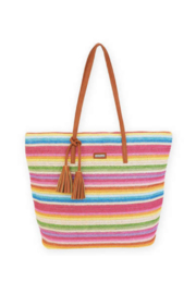 Sun n Sand MADORA NATURAL STRAW SHOULDER TOTE - Front cropped