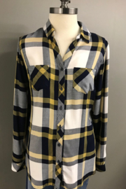 Charlie B.  Madras Plaid Shirt - Product Mini Image