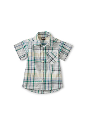 Tea Collection Madras Woven Baby Shirt - Front cropped