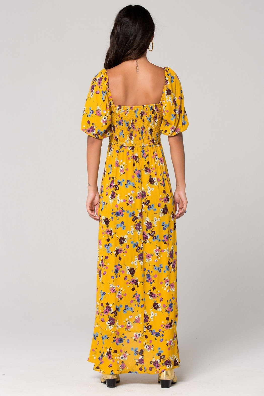 Band Of Gypsies Madrid Mustard Maxi - Front Full Image