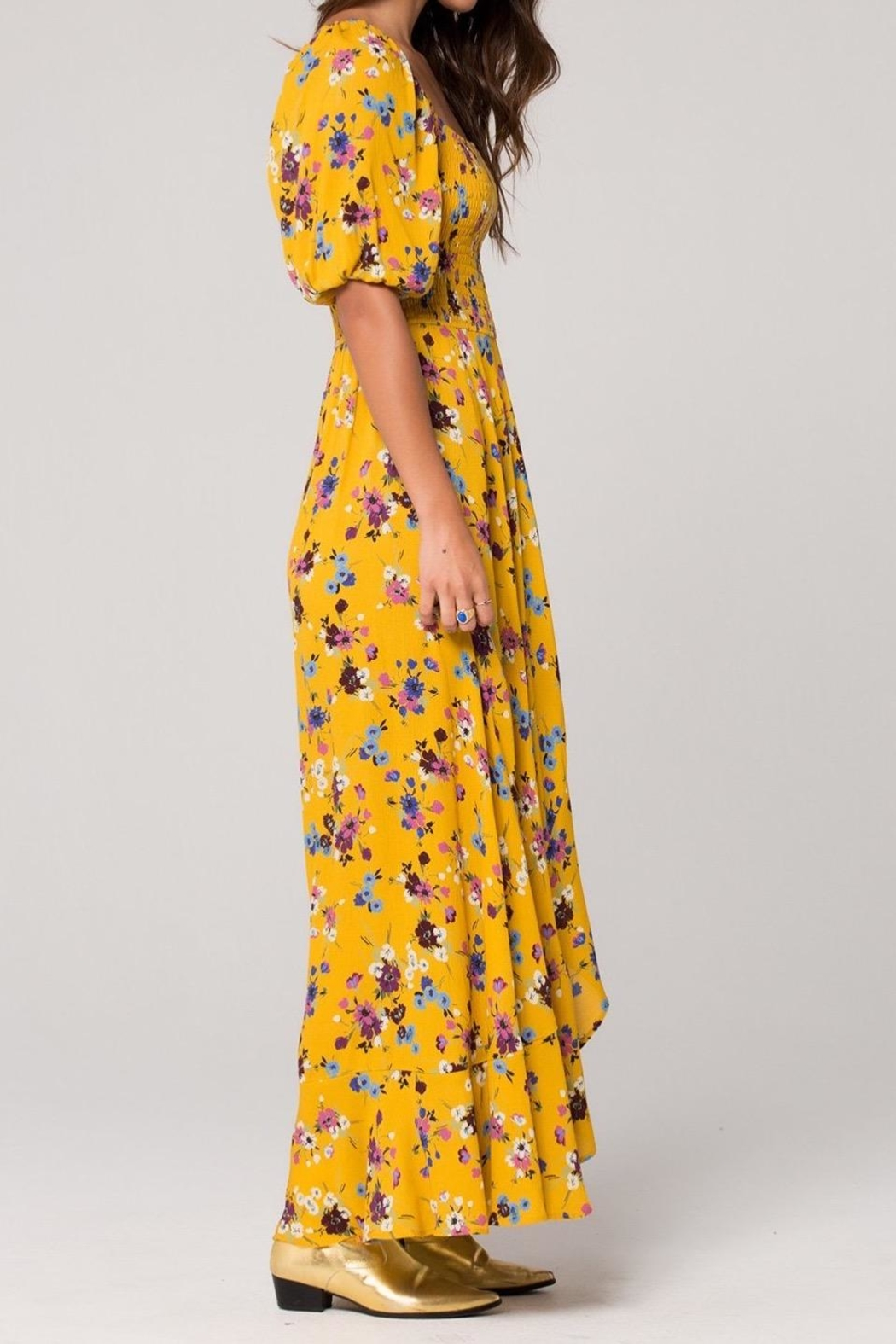 Band Of Gypsies Madrid Mustard Maxi - Back Cropped Image