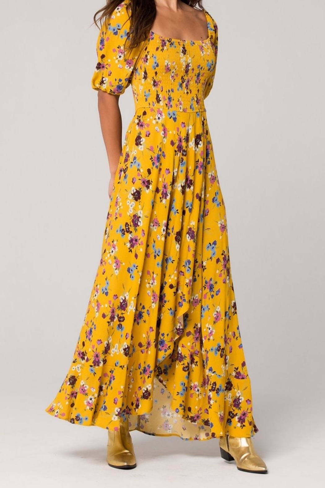 Band Of Gypsies Madrid Mustard Maxi - Main Image