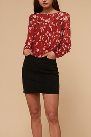 Adelyn Rae Mae Open Back Cropped Blouse - Side cropped