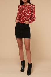 Adelyn Rae Mae Open Back Cropped Blouse - Back cropped
