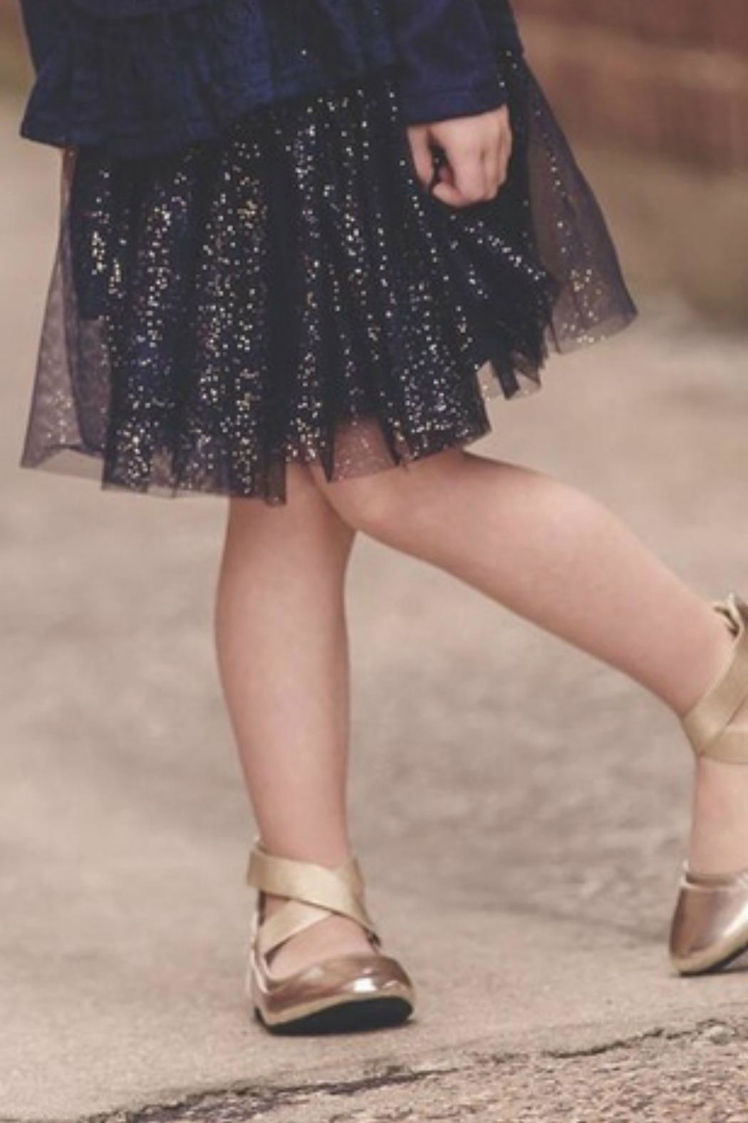 MAE LI ROSE Girls Navy-Sparkle Skirt - Main Image