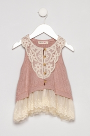 MAE LI ROSE Lace Sweater Vest - Product Mini Image