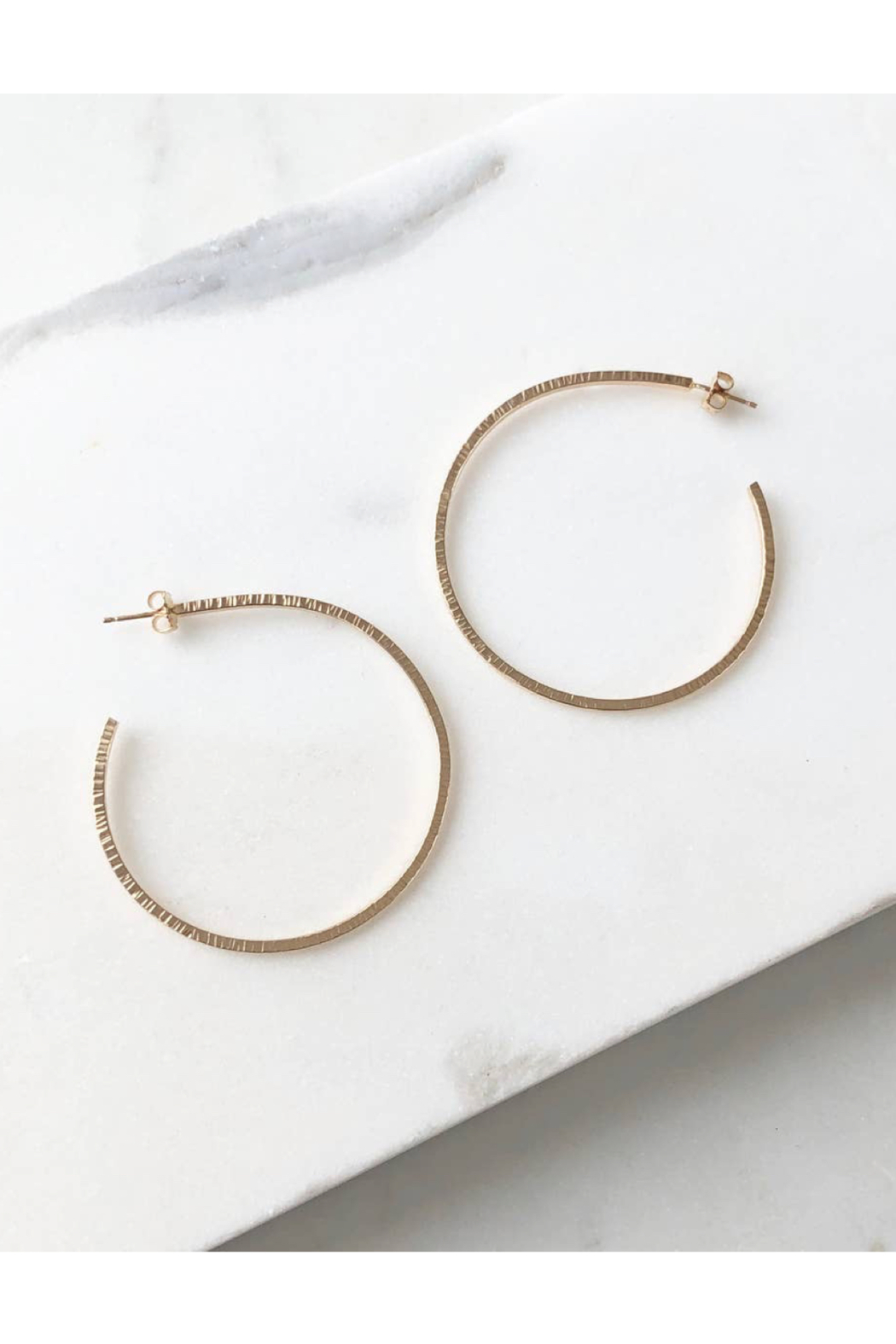 Token Jewelry Maeve Hoops - Side Cropped Image