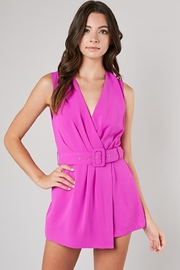 Do & Be Magenta Belted Romper - Product Mini Image