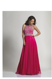 Dave and Johnny Magenta Crystal Gown - Product Mini Image