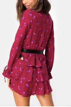 Motel Rocks Magenta Floral Dress - Alternate List Image