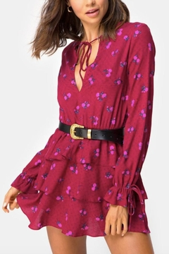 Motel Rocks Magenta Floral Dress - Product List Image