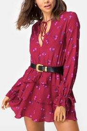 Motel Rocks Magenta Floral Dress - Product Mini Image