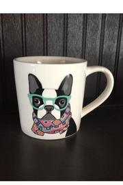 Magenta Hipster-Dawg Boston-Terrier Mug - Product Mini Image