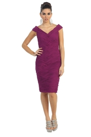 May Queen  Magenta Pleated Short Dress - Product Mini Image