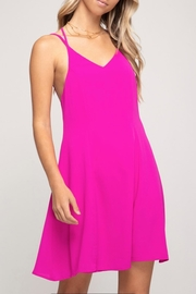 She + Sky Magenta Shift Dress - Product Mini Image
