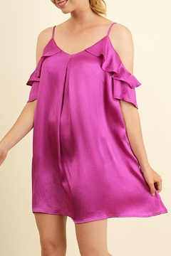 Shoptiques Product: Magenta Silky Dress