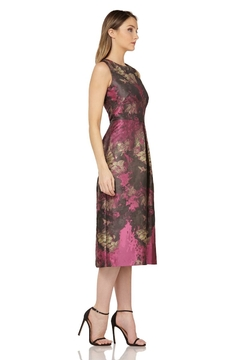 Kay Unger Magenta Sleeveless Print Dress - Alternate List Image