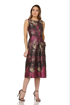 Kay Unger Magenta Sleeveless Print Dress - Product List Image